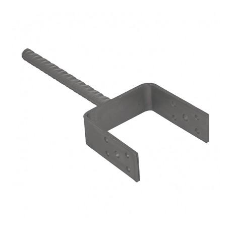 patka sloupku do betonu PSL100U galvanický zinek