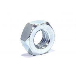 Klasická šestihranná ocelová zinkovaná matice.