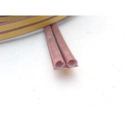 těsnění silikonové ELLEN OMEGA 7mm hnědá, samolepící, návin 25m