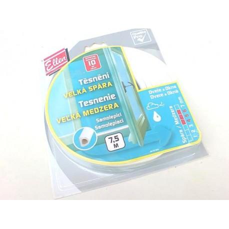 těsnění gumové samolepící D 9x6mm, 3x2,5m bílá