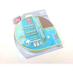 těsnění gumové samolepící D 9x6mm, 3x2,5m hnědá