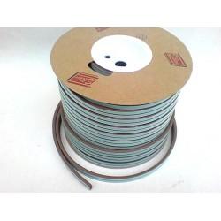 těsnění gumové samolepící D 9x6mm, hnědá