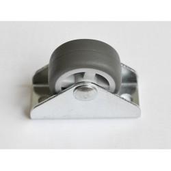 kolečko 30mm šedé PU pásek