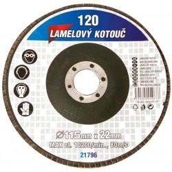 kotouč lamelový 115mm/Z120 brusný