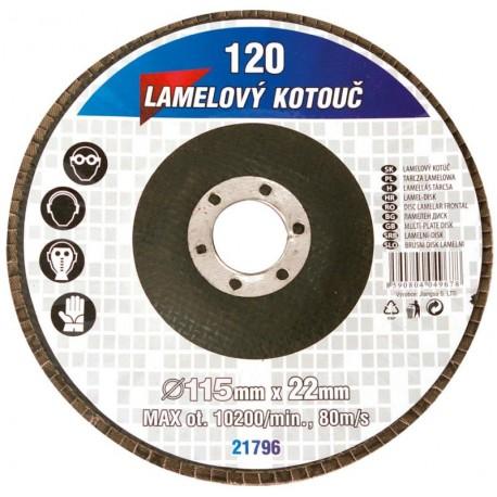 kotouč lamelový 125mm/Z120 brusný