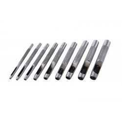 děrovače 9 ks, 2,5 až 10mm