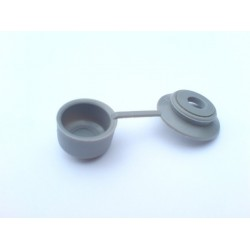 podložka s krytkou 6mm plastová šedá