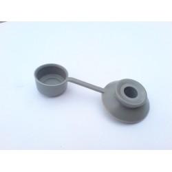 podložka s krytkou 8mm plastová šedá